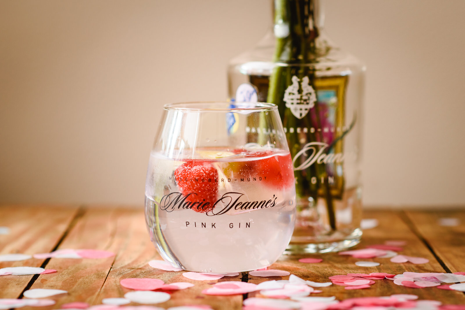 Pink gin works well with lemonade