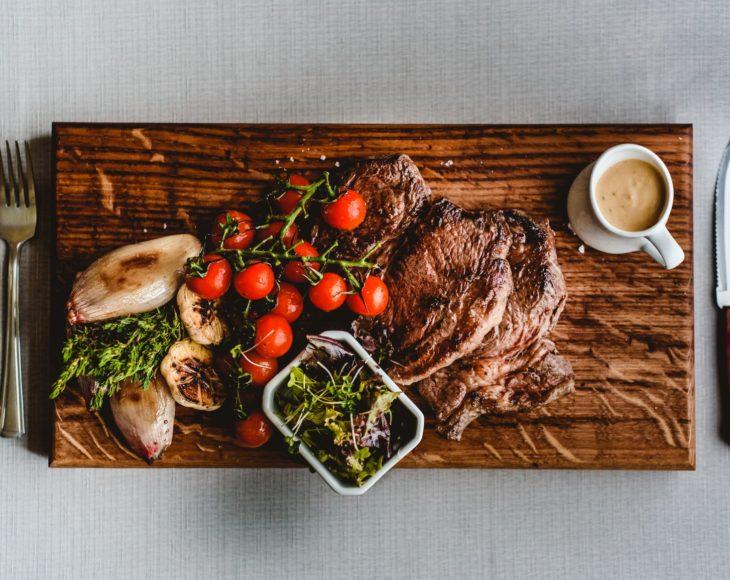 Beef On Chopping Board