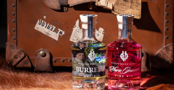 Burrell's London Dry Gin and Marie Jeanne Pink Gin