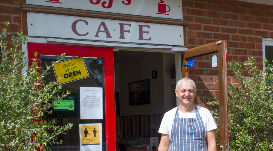 JJ's Cafe, which can be seen on one of South Ormsby Estate's Cafe Walks