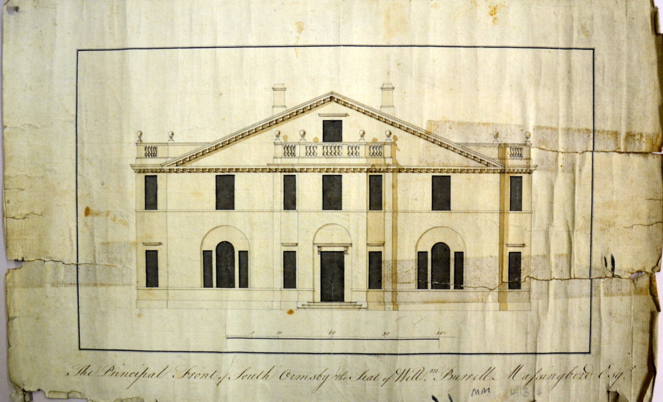 Original Front of Hall designed by James Paine c1750