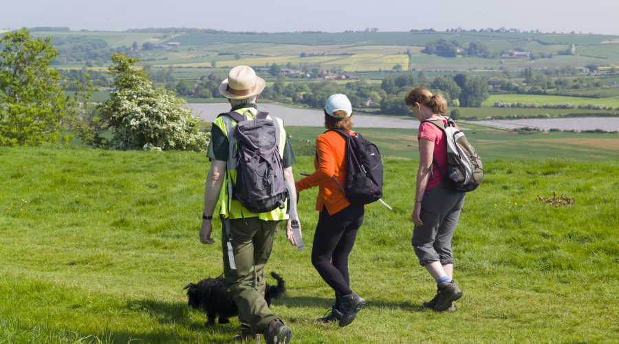 A group walking in the wolds