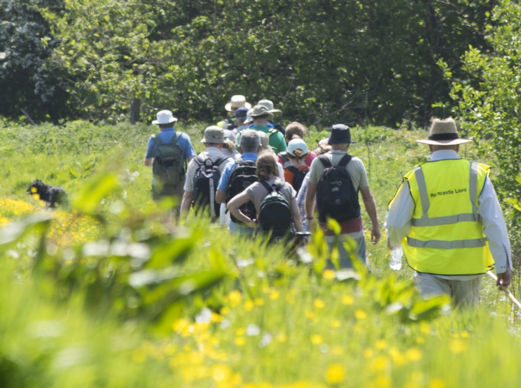 Group on walk through Lincolnshire