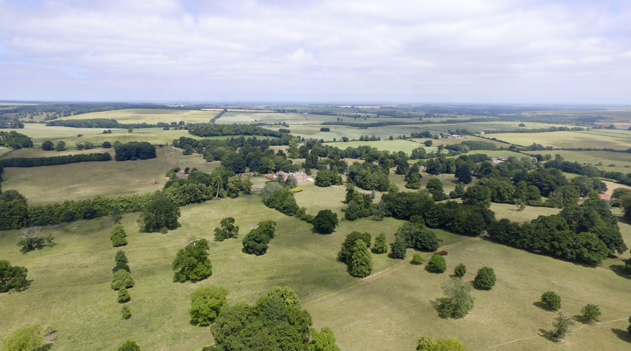 South Ormsby Estate and Hall from the air