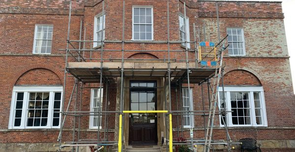 Construction work being done to the front of South Ormsby Estate