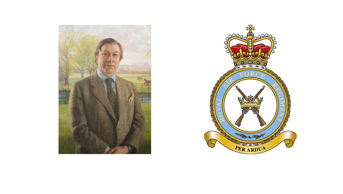Adrian Massingberd-Mundy & RAF Regiment crest