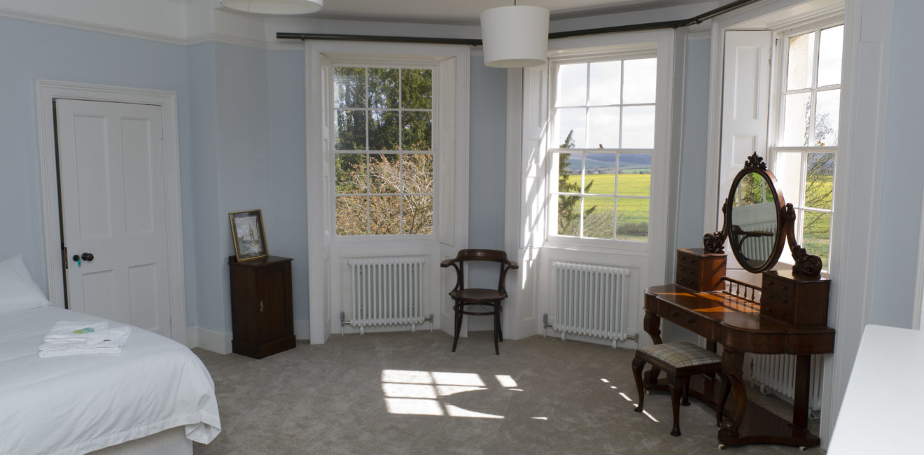 View across South Ormsby Estate and countryside from master bedroom