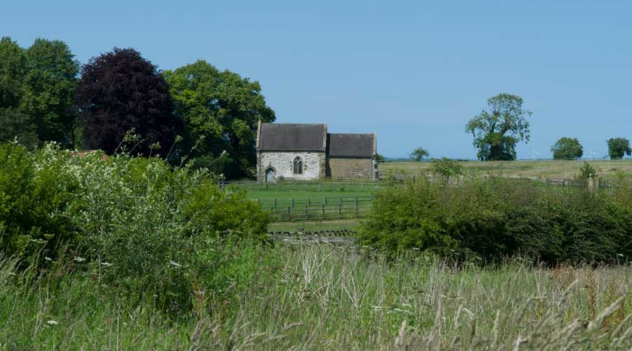 Church found whilst Walking in the Wolds